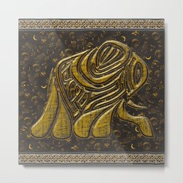 African elephant with ethnic motives Metal Print