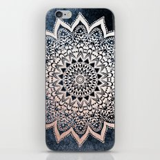 BLUE BOHO NIGHTS MANDALA iPhone & iPod Skin