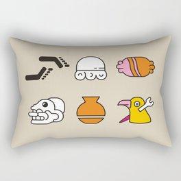 AZTEC~Nahuatl Glyphs Rectangular Pillow