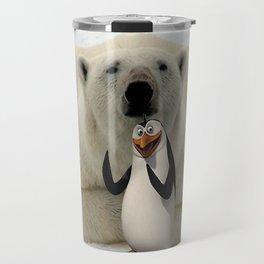 Polar bear and panguin Travel Mug