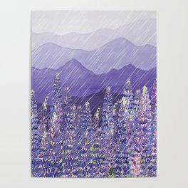 Purple Mountain Rain Poster