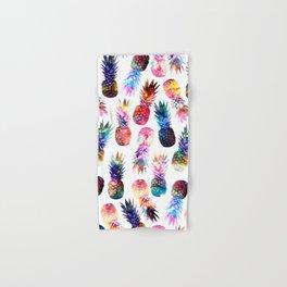 watercolor and nebula pineapples illustration pattern Hand & Bath Towel