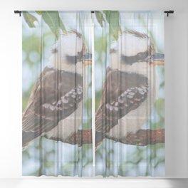 Early Morning Wake Up Call Sheer Curtain