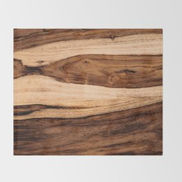 Sheesham Wood Grain Texture, Close Up Throw Blanket