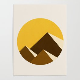 Abstraction_Mountains_YELLOW_001 Poster