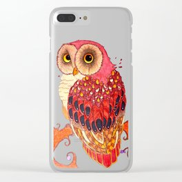 Day Owl Clear iPhone Case