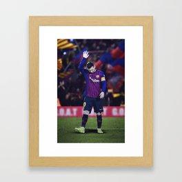 Messi 10 Framed Art Print