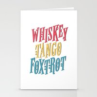 whiskey Stationery Cards featuring Whiskey Tango by northside