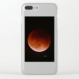 Blood Moon through Southern California Haze Clear iPhone Case