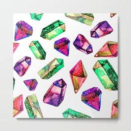 Watercolor bright  diamond crystals Metal Print