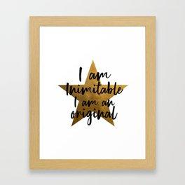 Hamilton Inimitable Framed Art Print
