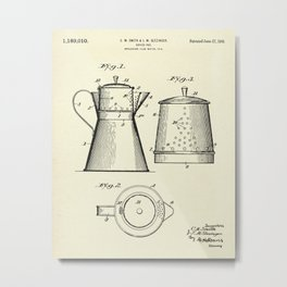 Coffee Pot-1916 Metal Print