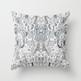 Histological section of my inner world (#4);original version Throw Pillow
