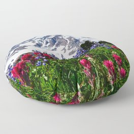 Mountain Wildflower Panoramic Floor Pillow