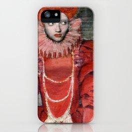 Queen Elisabeth/Newspaper Serie iPhone Case