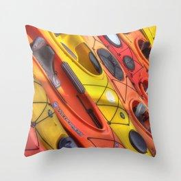 Kayak Art Throw Pillow