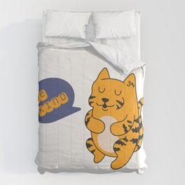 Be kind, cute tiger Comforters