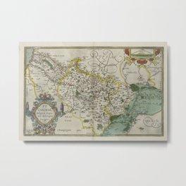 Vintage Map - Ortelius: Theatrum Orbis Terrarum (1606) - Picardy Metal Print
