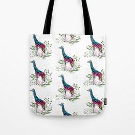 Happy Spring Giraffe Pattern Tote Bag