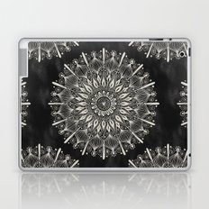 Vintage Mandala on black Laptop & iPad Skin