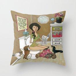 Treat Your Wiener Good Throw Pillow