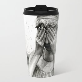 Weeping Angel Watercolor Painting Travel Mug