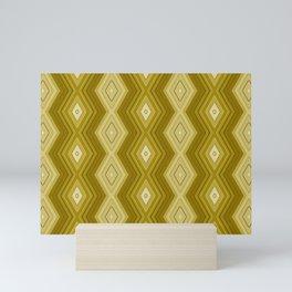 Sepia stripes pattern Mini Art Print