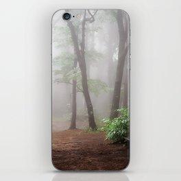 Misty Woods #adventure #photography iPhone Skin