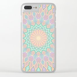 Crystal Magic - Mandala Art Clear iPhone Case