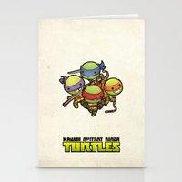 ninja turtles Stationery Cards featuring Kawaii Mutant Ninja Turtles by Squid&Pig