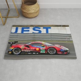 488 GTE EVO Sports Car 24 Hours of Le Mans 2018 Rug