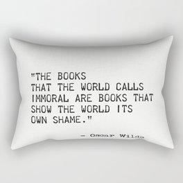 Oscar Wilde quote 2 Rectangular Pillow