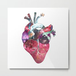 Superstar Heart (on white) Metal Print