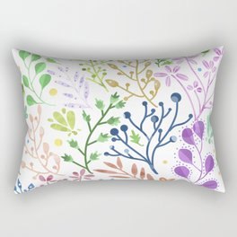 Abstract Spring Florals Rectangular Pillow