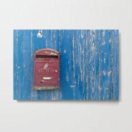 Postbox Metal Print