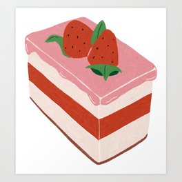 Strawberry Cream Art Print