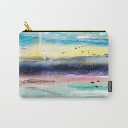 Summer watercolor abstract art design Carry-All Pouch