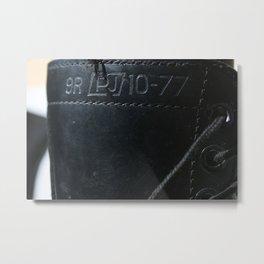 Numbered Metal Print