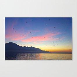 Susnet in Switzerland Canvas Print