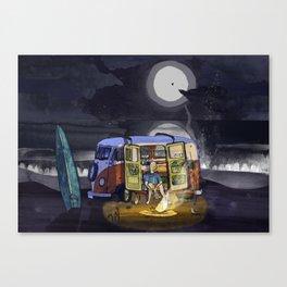 Camp Fires Canvas Print