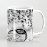 cheetah Mugs featuring Cheetah by Mark Nelson