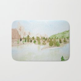 Pines and mountains Bath Mat