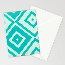 Blue Diamonds Stationery Cards