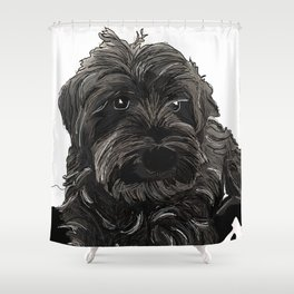 Doug the Schnauzer Shower Curtain