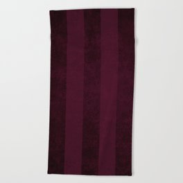 Red Wine Stripes Beach Towel