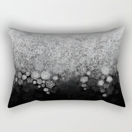 Snowfall on Black Rectangular Pillow