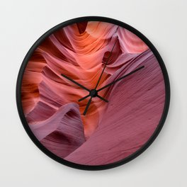 Colorful and curved interior of the Antilope canyon, page, Arizona USA Wall Clock