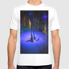 Roller Disco White Mens Fitted Tee MEDIUM