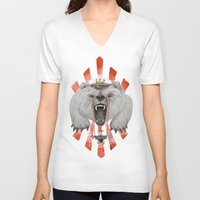 power V-neck T-shirts featuring Power by Ruta13