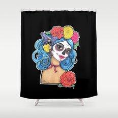 Dia de los Muertos: Sugar Skull Girl Shower Curtain
